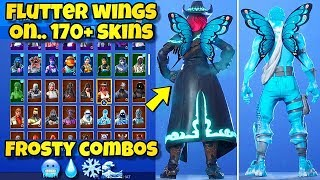 "NEW ""FLUTTER WINGS"" BACK BLING Showcased With 170+ SKINS! Fortnite BR (BEST FLUTTER WINGS COMBOS)"