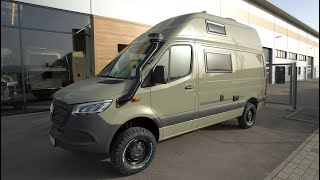 Unter 3,5to: Mercedes Sprinter Wohnmobil 4x4 HRZ Safari 2021 Offroad Expeditions Weltreisemobil