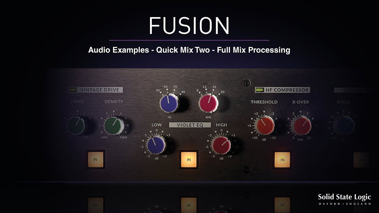 SSL Fusion : The Inside Track / KMR Audio News