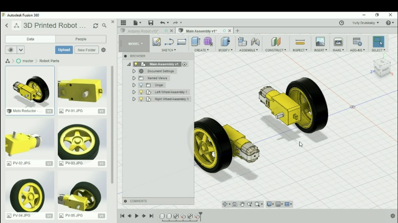 3D Printed Robot with Fusion 360: Importing and measuring premade parts