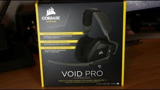 Corsair Void Pro Gaming Headset Unboxing and Review