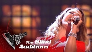 Tesni Jones Performs 'Highway To Hell': Blind Auditions   The Voice UK 2018