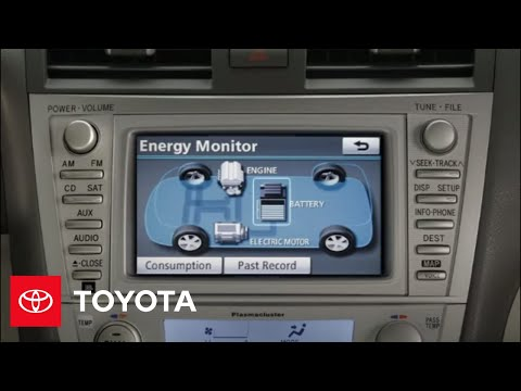 2017 Camry Hybrid How To Energy Monitor Toyota