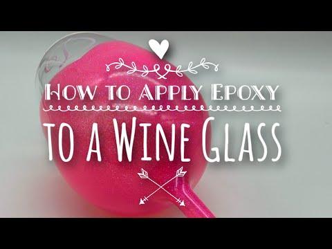 DIY: How to apply Epoxy to a Wine Glass