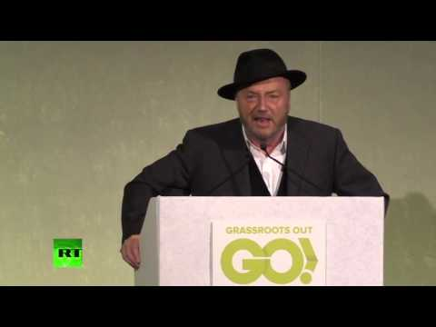 Left, right, march – Galloway at Grassroots Out rally