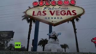 Nieva en Las Vegas por primera vez en más de 10 años