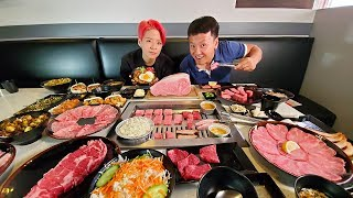 All You Can Eat JAPANESE STEAK BUFFET With Amber Liu