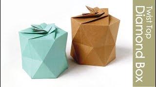 Origami Box -twist top diamond- 折り紙 ダイヤモンドボックス