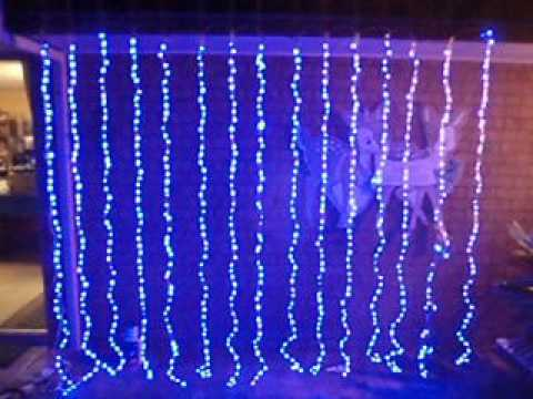 Special Effects Digital Waterfall Blue Led Curtain Light