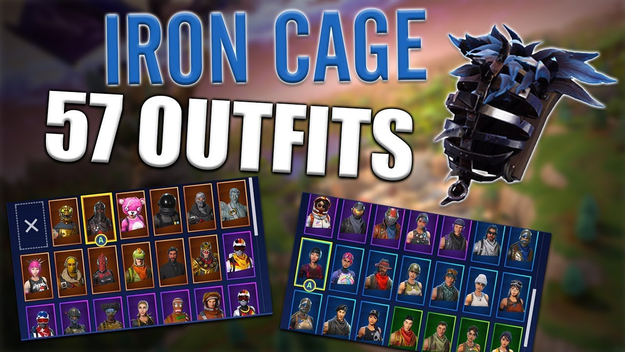 Iron Cage Back Bling On 57 Outfits Raven Fortnite Youtube