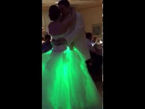 Amy And Dave S Wedding Dance With Light Up Dress