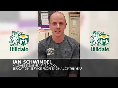 Ian Schwindel Hilldale Elementary School Education Service Professional of the Year