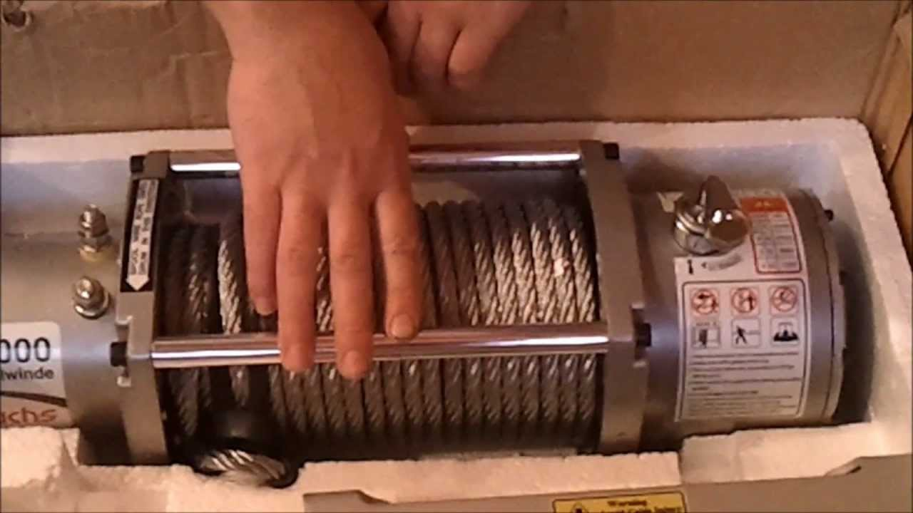 Unboxing Electric Winch Troliu Rotfuchs 13000 Lbs Youtube Warn 12000 Wiring Diagram
