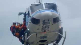 海上保安庁 ベル212 救助訓練@仙台航空基地 その3