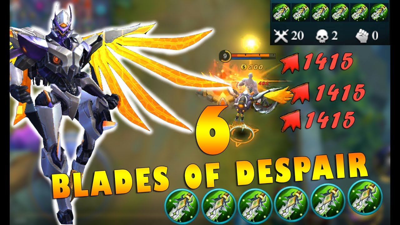 Mobile Legends Saber New Skin Gameplay 6 Blades Of Despair YouTube