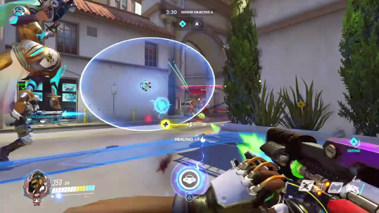 Overwatch: First Team Kill with D.va😜 - YouTube