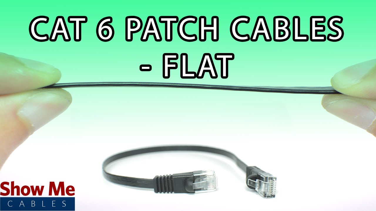 Cat6 Flat Patch Cables Low Profile Connection For Your Network Cableorganizer Cat5e Cable 14ft Blue Youtube