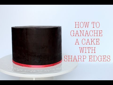 How to Ganache a Cake with Sharp Edges