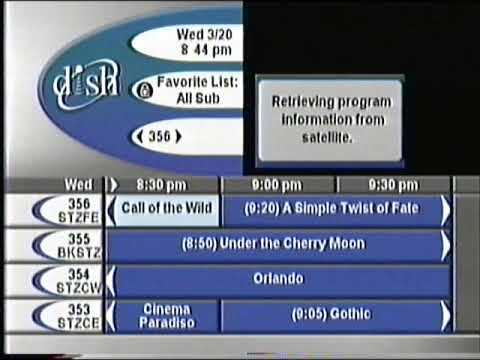 """How to fix dish tv program guide """"no info available"""" issue youtube."""