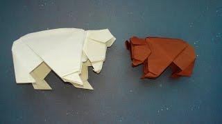 Как сделать медведя из бумаги (Origami Bear)