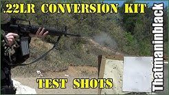 Test shots CMMG .22lr semi-automatic conversion kit - 5.56  1:7 barrel