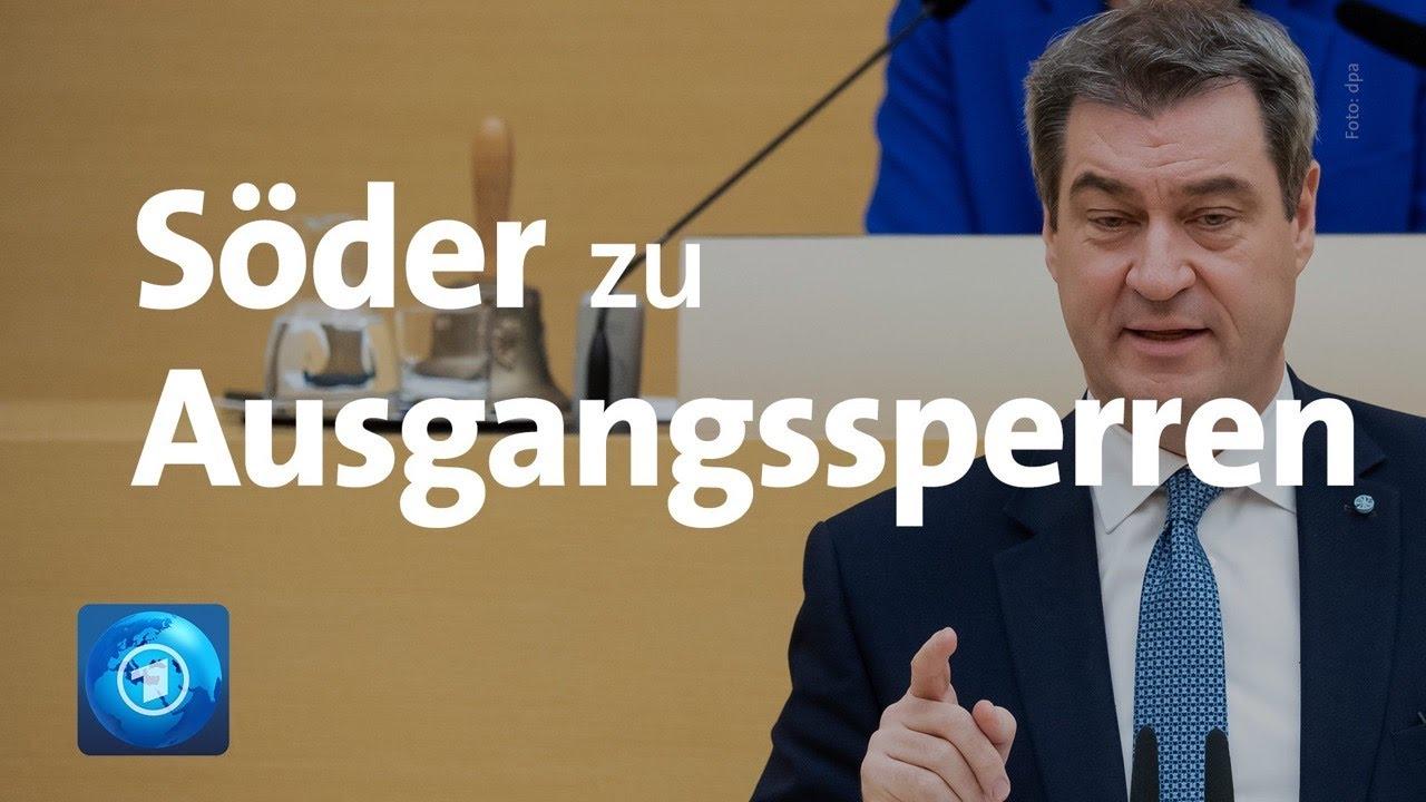 Coronavirus: Bayerns Ministerpräsident Söder verhängt Ausgangssperre in Bayern