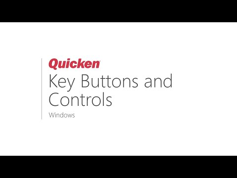 Quicken For Windows: Key Buttons And Controls