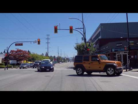 Maple Ridge BC Canada - Driving On Dewdney Trunk - Route Past Downtown Area