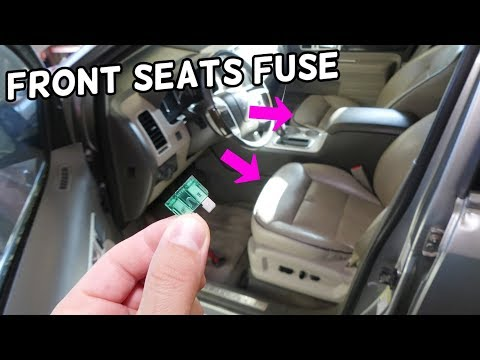 Lincoln Mkx Power Seat Fuse Location Replacement Driver Seat Passenger Seat Not Working Youtube