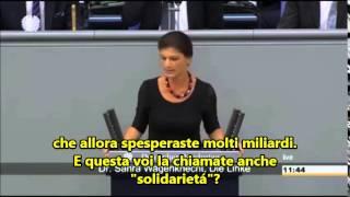 Sahra Wagenknecht al dibattito al Bundestag -Luglio 2015 (sott.ITA)