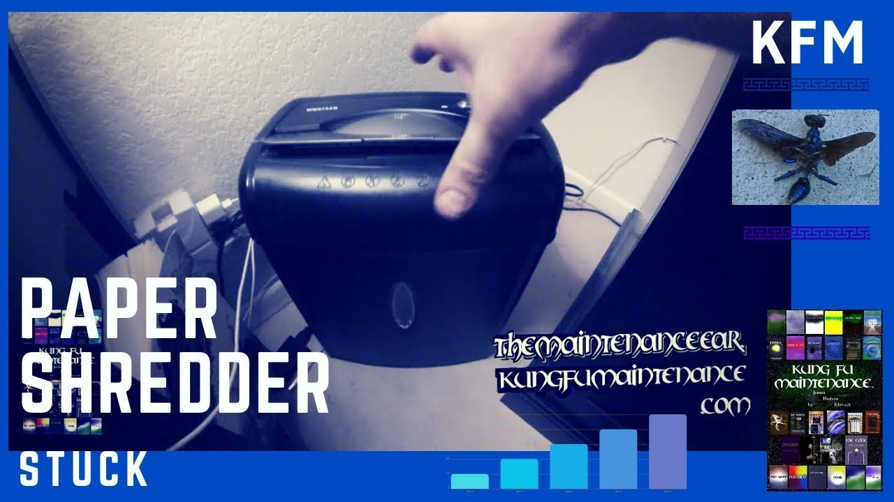 How To Fix Paper Shredder Jam Video Youtube
