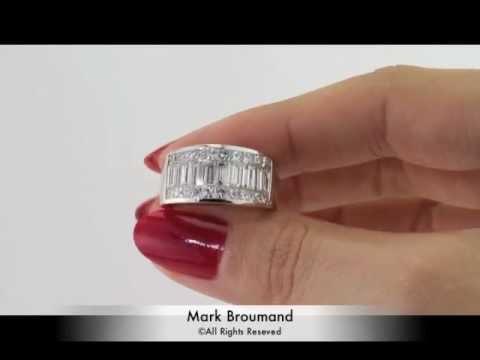 3.56ct Princess and Baguette Cut Diamond Men\'s Wedding Band-Mark ...