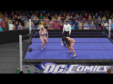 WWE 2K17 Wonder Woman vs. Power Girl - Ironman Match 3