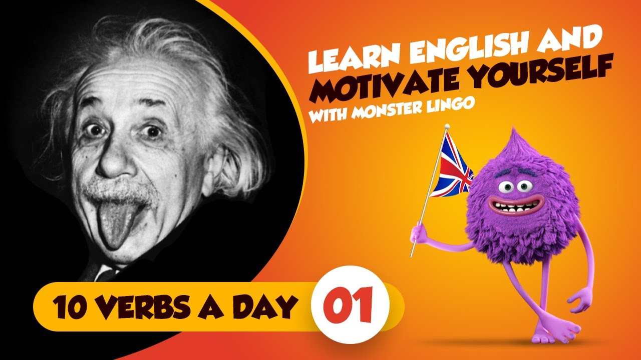 Learn English Common English Verbs And Motivational Quotes Albert Einstein 9 Quotes Part 1