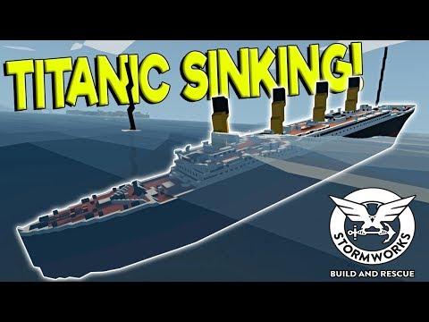 TITANIC SINKING SHIP SURVIVAL! - Stormworks: Build and Rescue Gameplay - Sinking Ship Survival