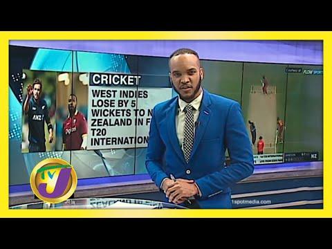 West Indies Beaten by New Zealand in 1st T20 International   TVJ Sports News