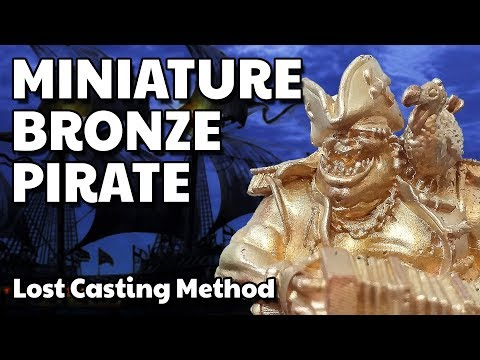 ALMOST PERFECT Casting  - Ogre Pirate Miniature Bronze - RPG Warhammer DnD style figure