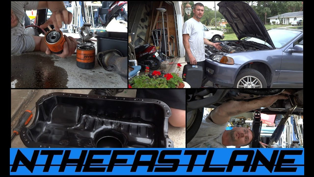 Replacing Honda Civic 92-00 Oil Pan Gasket,Changing The ...