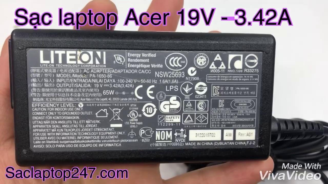 Sạc laptop Acer 19V 3.42A chính hãng – Saclaptop247.com