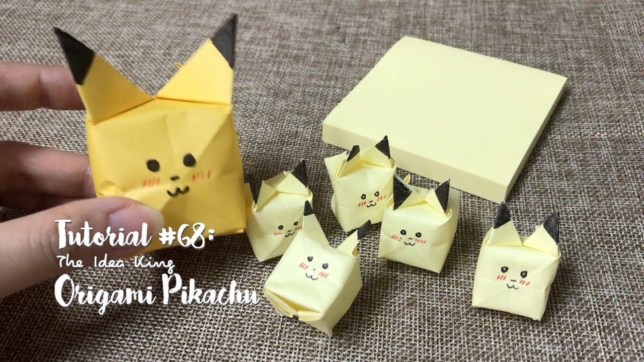 Origami Pikachu Tutorial ☆ Pokemon DIY ☆ Paper Kawaii - YouTube | 720x1280