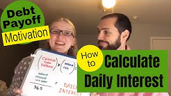 How to Calculate Daily Interest-- Big Motivation to Pay Off Debt-- LIVE video