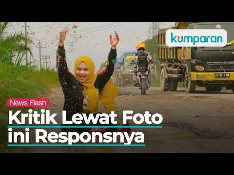 Bupati Lampung Selatan Merespons Foto ala Model Suami Istri di Jalan Berlubang