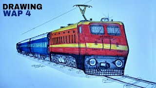 How to Draw a Train | WAP4 LOCOMOTIVE | ARTIST MUNDA