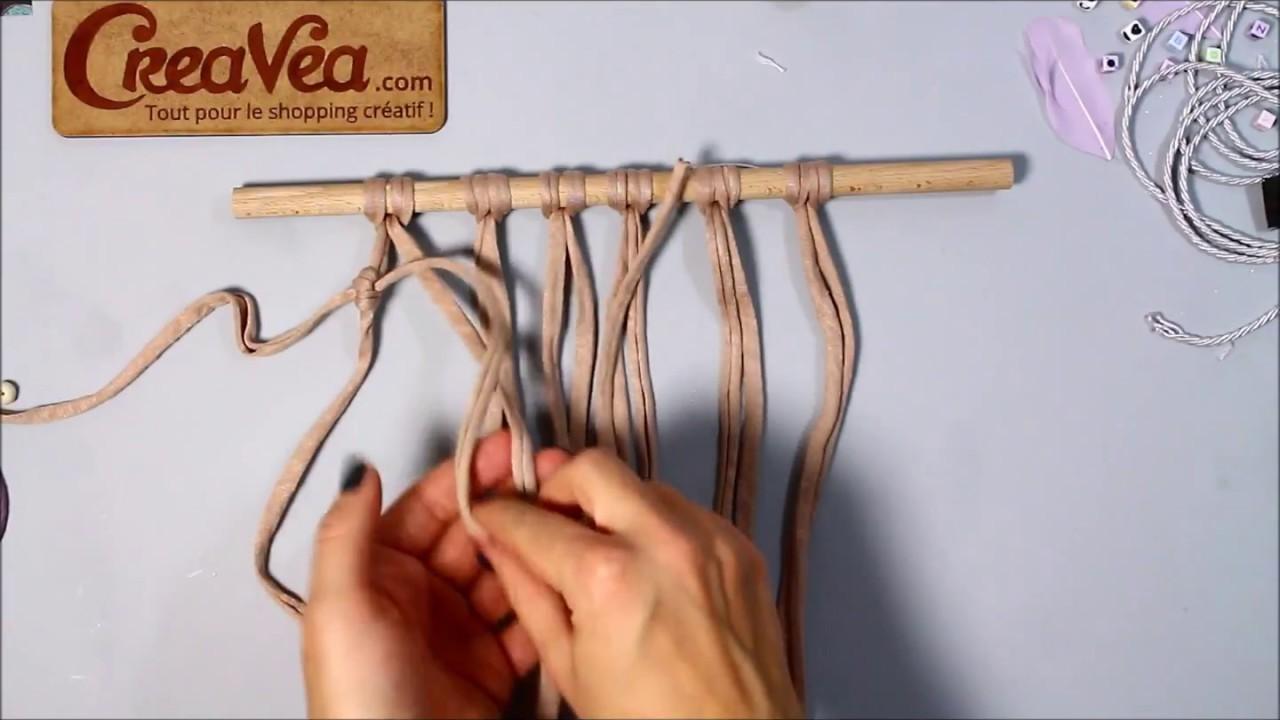 comment faire le noeud baguette verticale - macramécreavea