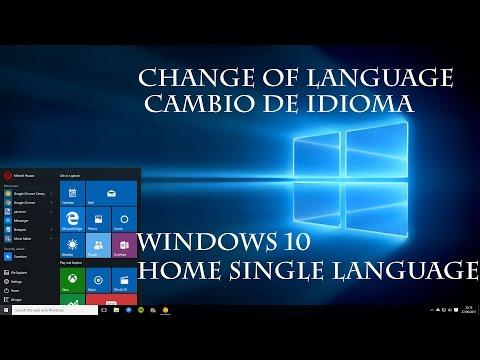 WINDOWS 10 HOME SINGLE LANGUAGE OS CAMBIANDO IDIOMA| TUTORIAL | CODEWORLD