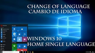 WINDOWS 10 HOME SINGLE LANGUAGE OS CAMBIANDO IDIOMA| TUTORIAL | CODE WORLD