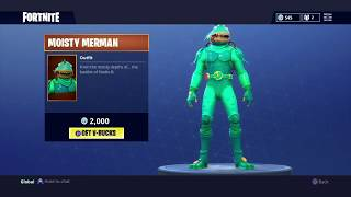 NEW FORTNITE MOISTY MERMAN SKIN AND DIRECTOR'S CUT HARVESTING TOOL