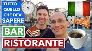 6 Curiosità Sui Ristoranti E Bar In Italia   Imparare l'Italiano