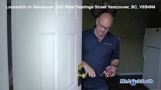 Locksmith in Vancouver BC: 555 West Hastings Street Vancouver BC V6B 4N4