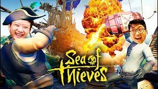 SEA OF THIEVES ĐỤT #4: DŨNG CT HY SINH ĐÁNH BOM CHÌM TÀU ĐỊCH !!! Đạt, Vũ khóc hết nước mắt =)))